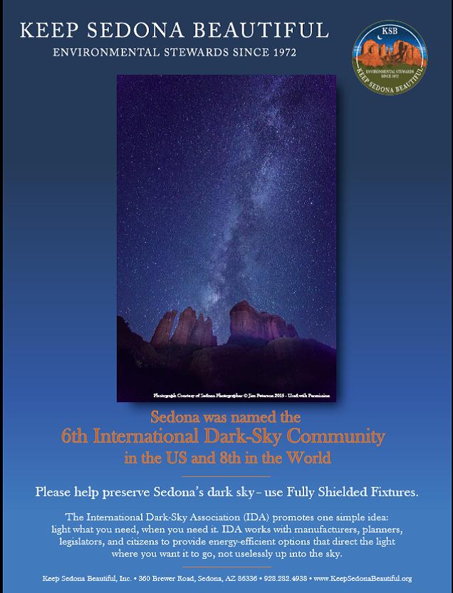 Sedona Dark Sky Poster2016